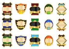 Decoratieve Gouden Etiketten Royalty-vrije Stock Fotografie