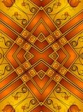 Decoratieve Gouden Patronen 2 vector illustratie