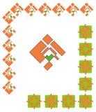 Decoratieve grafische grenzen Stock Afbeelding