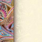 Decoratieve grensachtergrond Royalty-vrije Stock Foto