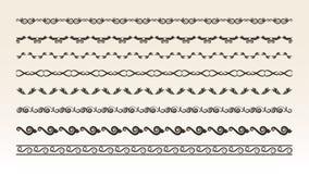 Decoratieve grenselementen voor ontwerp Royalty-vrije Stock Foto's