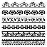 Decoratieve grensreeks 1 Stock Fotografie