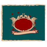 Decoratieve grungeachtergrond royalty-vrije illustratie