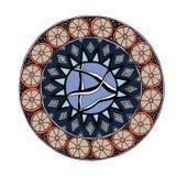 Decoratieve hand getrokken mandala met verschillend geometrisch element Royalty-vrije Stock Fotografie