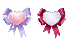 Decoratieve harten Royalty-vrije Stock Fotografie