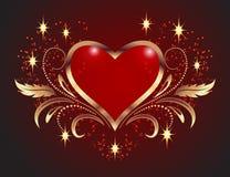 Decoratieve harten Stock Afbeelding