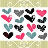 Decoratieve harten Royalty-vrije Stock Afbeelding