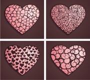 Decoratieve harten Royalty-vrije Stock Afbeeldingen
