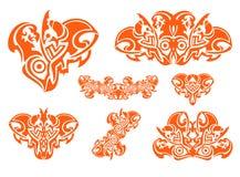 Decoratieve hartenelementen Stock Foto