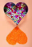 Decoratieve hartvormen Royalty-vrije Stock Foto