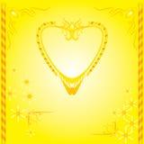 Decoratieve het huwelijkskaarten van het ontwerp Vectorkader Stock Foto