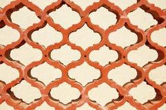 Decoratieve het traliewerkomheining van het terracotta Royalty-vrije Stock Foto's