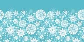 Decoratieve Horizontale Naadloos van de Sneeuwvlokvorst Royalty-vrije Stock Afbeelding