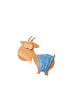 Decoratieve houten geit Stock Foto