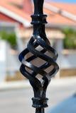 Decoratieve ijzerbars bij de vensters fragment Royalty-vrije Stock Fotografie