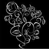 Decoratieve illustratie van bloemen Stock Afbeeldingen
