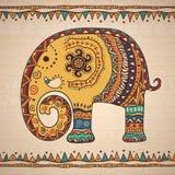 Decoratieve illustratieolifant Royalty-vrije Stock Foto