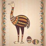 Decoratieve illustratiestruisvogel Royalty-vrije Stock Afbeeldingen