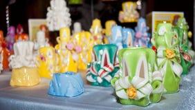 Decoratieve kaarsen Stock Afbeelding