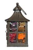 Decoratieve kaarslamp Stock Afbeelding