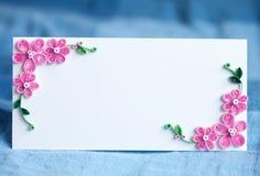 Decoratieve kaart stock afbeelding