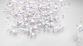 Decoratieve Kaart van Frankrijk stock videobeelden