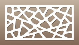 Decoratieve kaart voor knipsel abstract lijnenpatroon Laserbesnoeiing Verhouding 1:2 Stock Foto