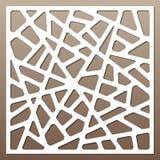 Decoratieve kaart voor knipsel abstract lijnenpatroon Laserbesnoeiing Verhouding 1:1 Royalty-vrije Stock Afbeelding