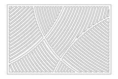 Decoratieve kaart voor knipsel Geometrisch lineair patroon De laser sneed paneel Verhouding 2:3 Vector illustratie royalty-vrije illustratie