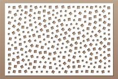 Decoratieve kaart voor knipsel Herhaal vierkant patroon De laser sneed paneel Verhouding 2:3 Vector illustratie royalty-vrije illustratie
