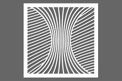 Decoratieve kaart voor knipsel Het patroon van de lijn Laserbesnoeiing verhouding Royalty-vrije Stock Foto's