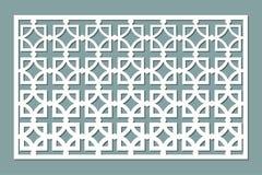 Decoratieve kaart voor knipsel Vierkant herhaal patroon Laserbesnoeiing Verhouding 1:2 Stock Foto's