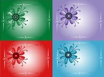 Decoratieve kaarten Stock Afbeelding