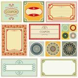 Decoratieve kaarten en ornamenten vector illustratie