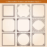 Decoratieve kaders en grenzen Royalty-vrije Stock Foto's