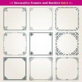 Decoratieve kaders en grenzen geplaatst vector Stock Fotografie