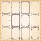 Decoratieve kaders en grenzen geplaatst vector Stock Foto