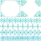 Decoratieve kaders en lijnen Stock Afbeelding