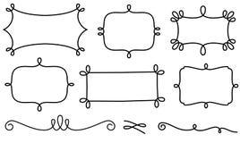 Decoratieve kaders en ontwerpelementen Stock Afbeelding