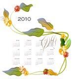 Decoratieve kalender royalty-vrije illustratie