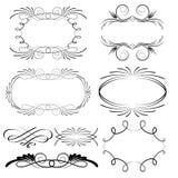 Decoratieve kalligrafische frames Stock Foto