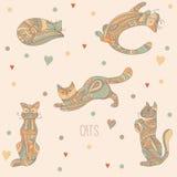Decoratieve katten Stock Afbeeldingen