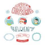 Decoratieve Kerstmis vectorelementen Royalty-vrije Stock Fotografie