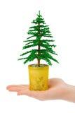 Decoratieve Kerstmisboom ter beschikking royalty-vrije stock fotografie