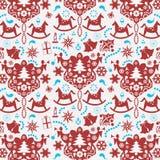 Decoratieve Kerstmisdocument achtergrond Stock Afbeelding