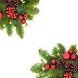 Decoratieve Kerstmisgrens Als achtergrond stock fotografie
