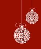 Decoratieve Kerstmisornamenten Stock Afbeeldingen