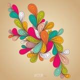 Decoratieve kleurenelementgrens Royalty-vrije Stock Fotografie