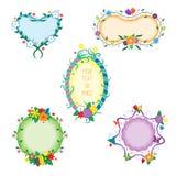 Decoratieve kleurrijke kaders Stock Foto's