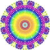 Decoratieve kleurrijke vectormandala Decoratieve kleurrijke vectormandala Rond Ornamentpatroon Royalty-vrije Stock Afbeelding